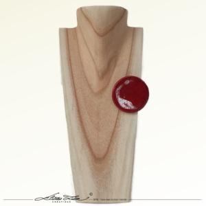 Céramique_Broche_Orchidée Rouge et Blanc 45 mm_01_ElizaLutz