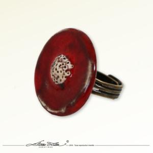 Ceramique_Bague_Camomille coquelicot 01_30mm_01_ElizaLutz