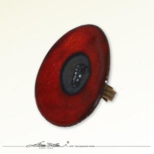Ceramique_Bague_Marguerite Coquelicot_45mm_01_Eliza Lutz
