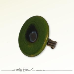 Ceramique_Bague_Marguerite Vert Praire_30mm_01_Eliza Lutz